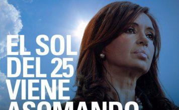 Aparecieron afiches que impulsan la candidatura de Cristina Kirchner