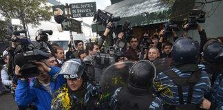 Ascendieron a la policía herida durante la represión en PepsiCo