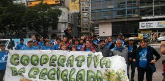 Protesta de cartoneros por malas condiciones de trabajo