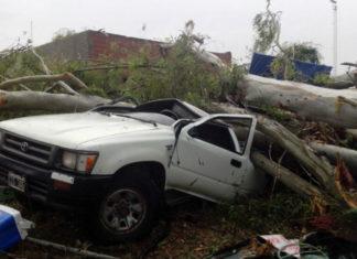 El fuerte temporal dejó dos muertos en Luján