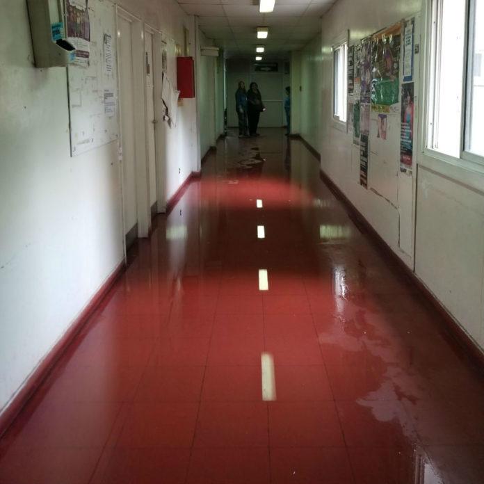 inundaciones en el hospital añativia