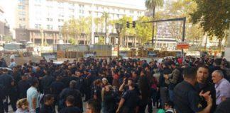Policías Federales protestaron contra traspaso a Ciudad