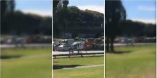 Helicóptero salva a herido tras grave accidente enAutopista Dellepiane