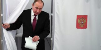 Putin fue reelecto como presidente de Rusia