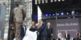 Marcos Peña y Vidal participaron de un homenaje a Alfonsín