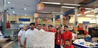 trabajadores de coto, despidos carrefour