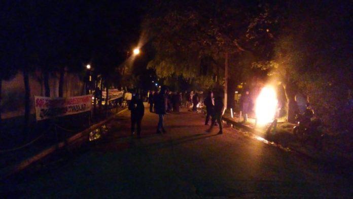 Gendarmería reprimió en Cresta Roja