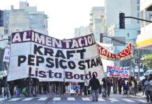 Protesta de trabajadores de la ex Kraft por despidos