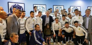 Mundial Rusia 2018: Macri despidió a la Selección argentina en Ezeiza