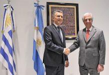 Macri y Tabaré Vázquez en la nueva sede de la embajada de Uruguay