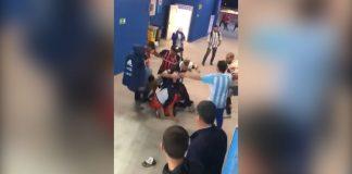 VIDEO: golpiza de barras argentinos a dos hinchas croatas