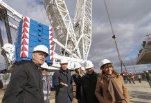 Grindetti y Santilli recorrieron la obras del puente que unirá Lanús y Capital