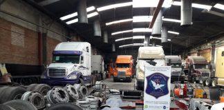 Bernal, allanamiento, desarmadero, camiones