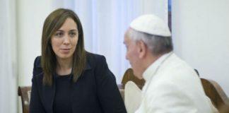 El papa Francisco recibe a María Eugenia Vidal y Carolina Stanley