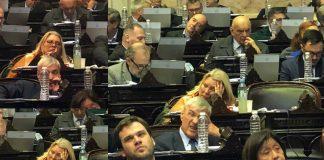 Elisa carrio, lilita carrio, durmiendo, congreso, sesión, justina