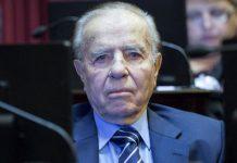 Evocando a Evita, Carlos Menem se pronunció en contra del aborto legal