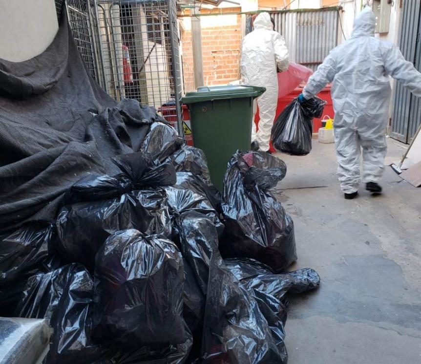 Clausura en la clínica Urquiza: Hallan residuos patológicos mezclados con basura común