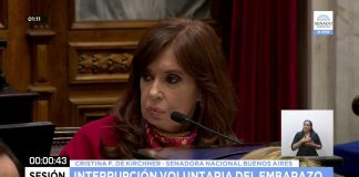 Cristina Kirchner, aborto, senado, aborto legal, debate, sesión, voto, votación