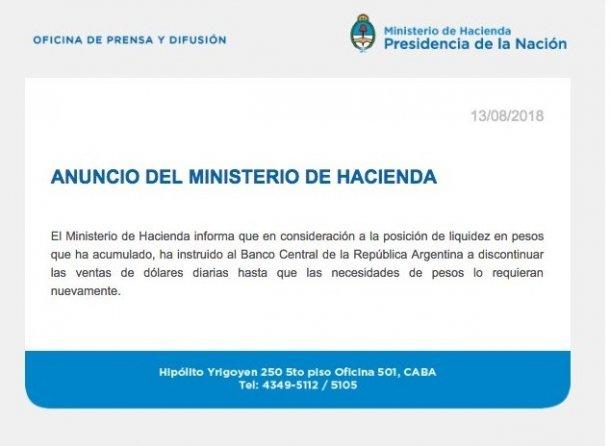 Dólar: el Gobierno de Macrisuspendió la venta diaria y acelera el fin de las Lebac