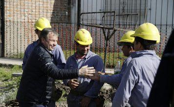 Mariano Cascallares recorrió obras hidráulicas en Almirante Brown