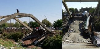 puente, el manantial del sur, camión atrapado, se cayo el puente