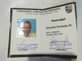 Ernesto Daniel Sizuela, concejal, varela