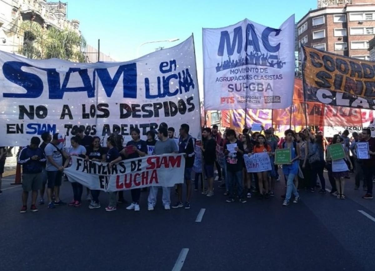siam, trabajadores, corte, manifestacion, puente pueyrredon