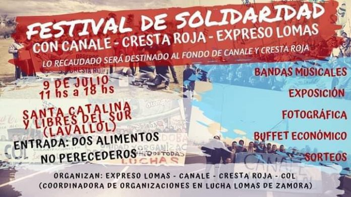 festival solidario, expreso lomas, canale, cresta roja